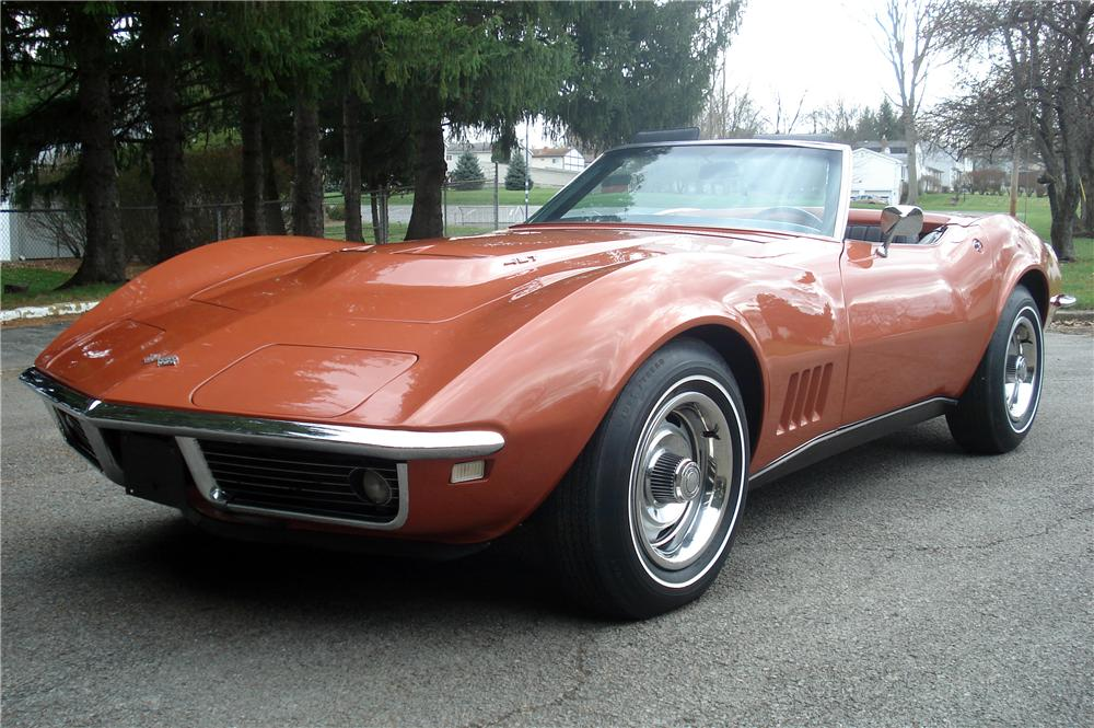 1968 CHEVROLET CORVETTE CONVERTIBLE - Front 3/4 - 116438