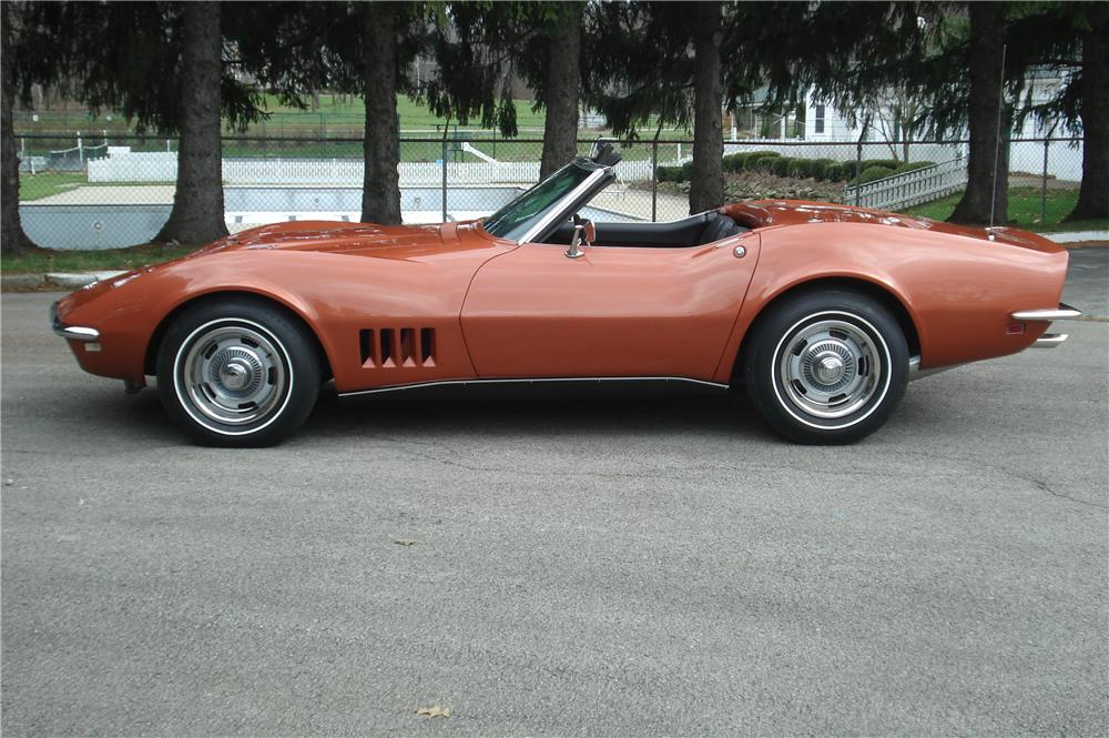 1968 CHEVROLET CORVETTE CONVERTIBLE - Side Profile - 116438