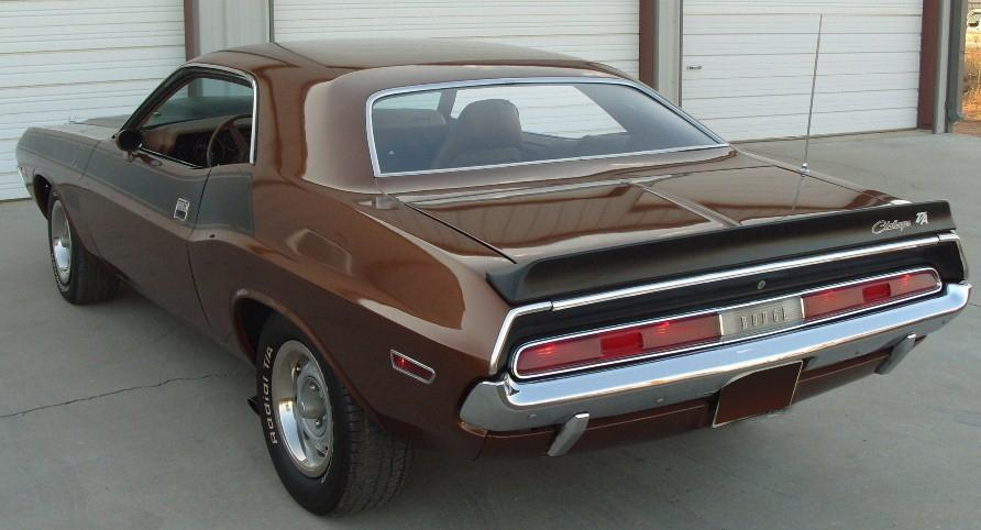 1970 DODGE CHALLENGER T/A COUPE - Rear 3/4 - 116443