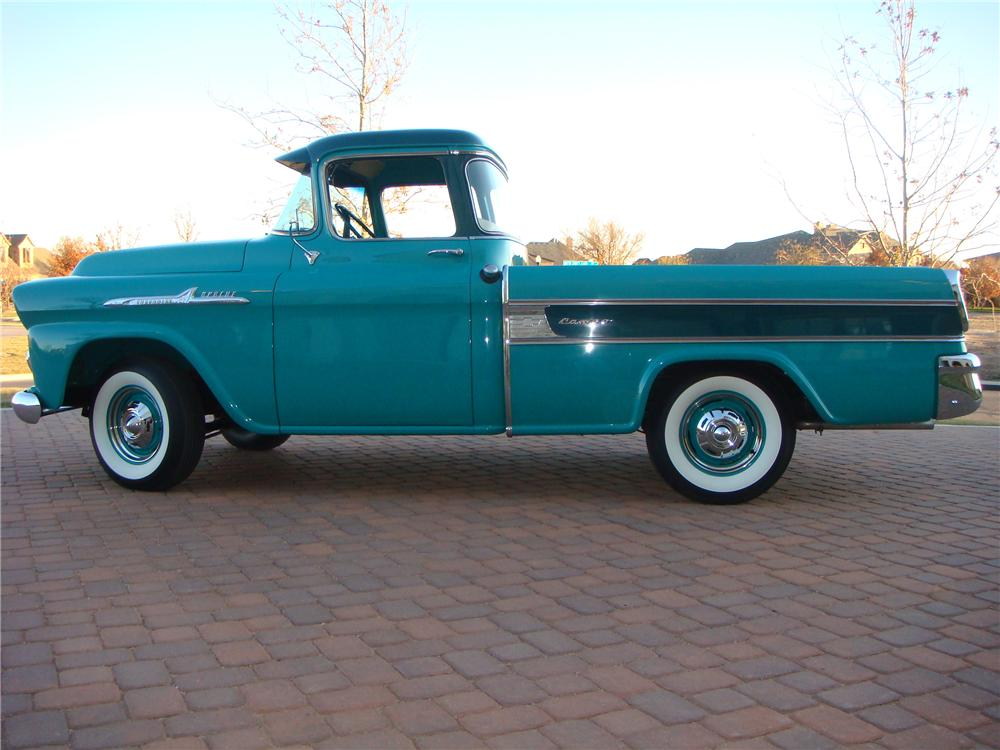 1958 CHEVROLET CAMEO PICKUP - Side Profile - 116444