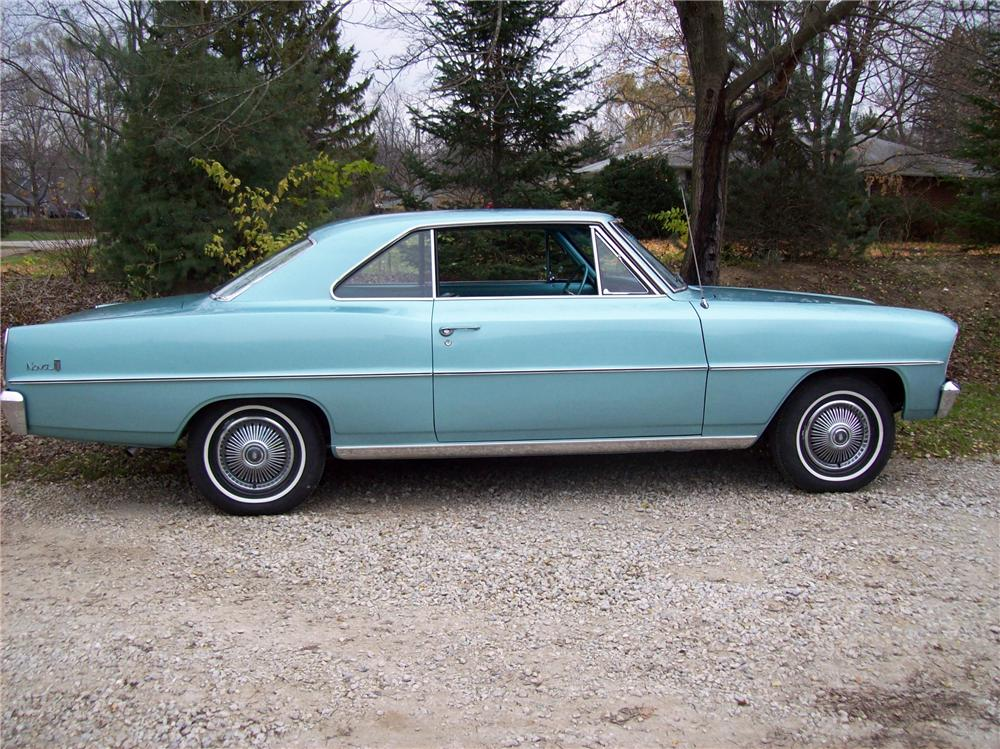 1966 CHEVROLET CHEVY II 2 DOOR COUPE - Side Profile - 116445