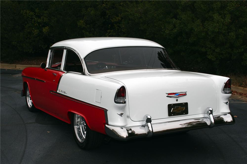 1955 CHEVROLET BEL AIR CUSTOM 2 DOOR SEDAN - Rear 3/4 - 116447
