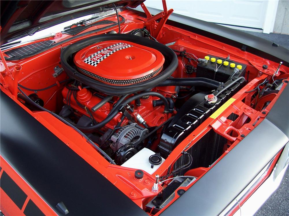 1970 PLYMOUTH CUDA AAR 2 DOOR COUPE - Engine - 116453