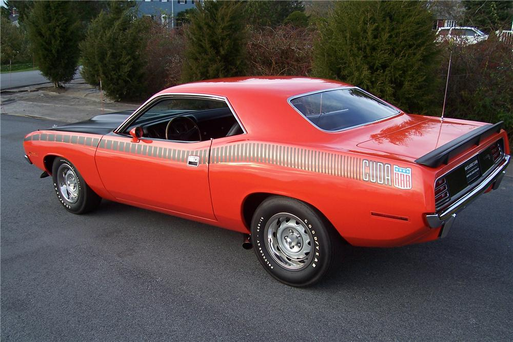1970 PLYMOUTH CUDA AAR 2 DOOR COUPE - Rear 3/4 - 116453