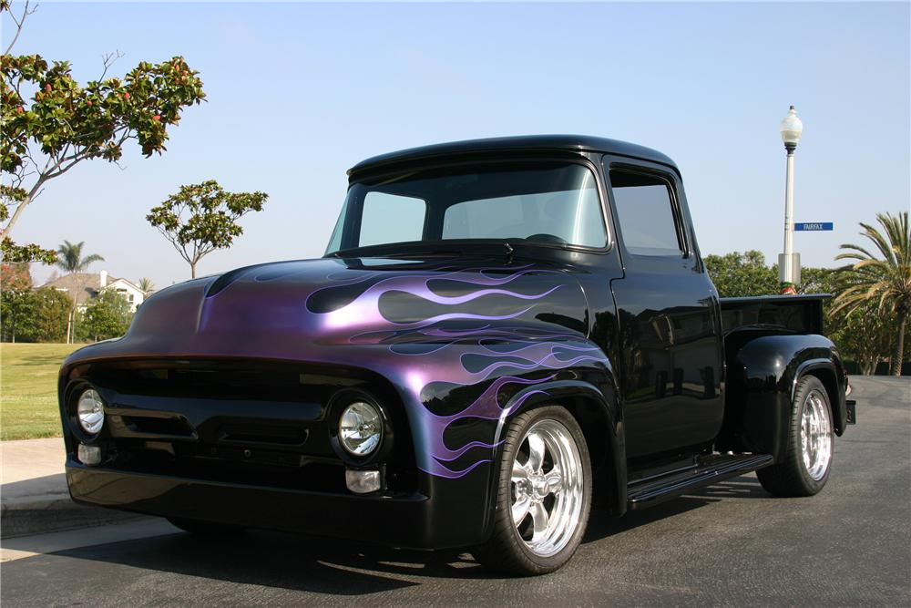 1956 FORD F-100 CUSTOM PICKUP - Front 3/4 - 116463
