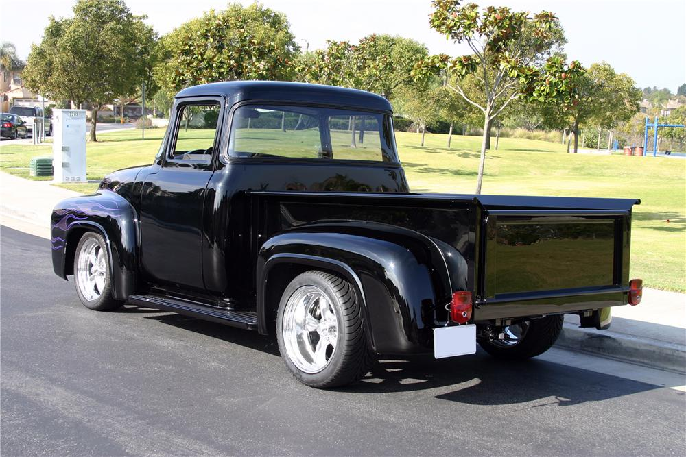 1956 FORD F-100 CUSTOM PICKUP - Rear 3/4 - 116463
