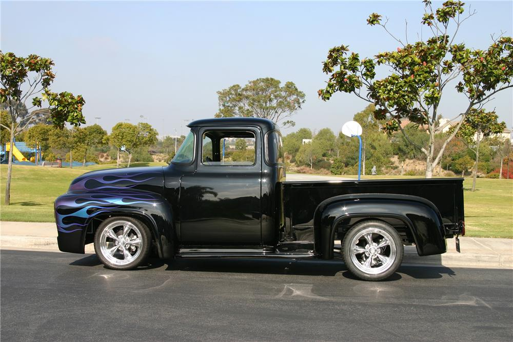 1956 FORD F-100 CUSTOM PICKUP - Side Profile - 116463