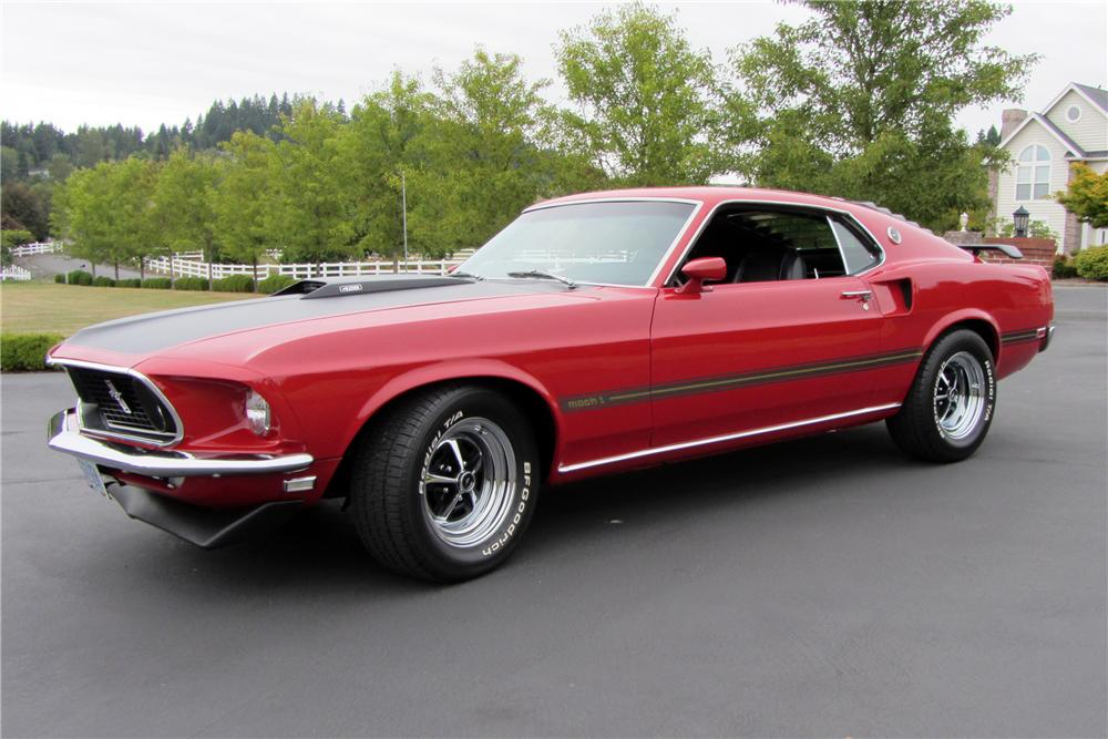 1969 FORD MUSTANG MACH 1 428 CJ FASTBACK - Front 3/4 - 116471