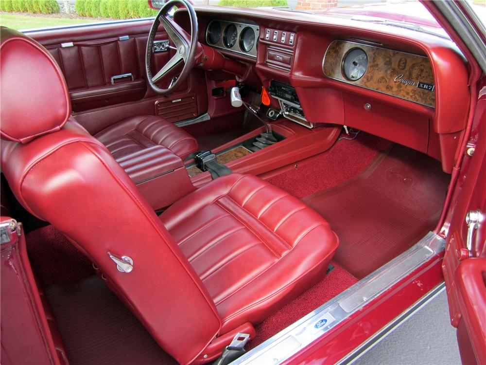 1969 MERCURY COUGAR XR7 2 DOOR HARDTOP - Interior - 116474