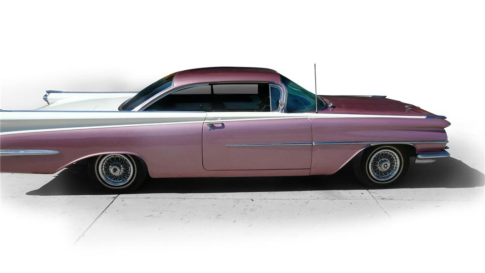 1959 OLDSMOBILE DYNAMIC 88 2 DOOR HARDTOP - Side Profile - 116477