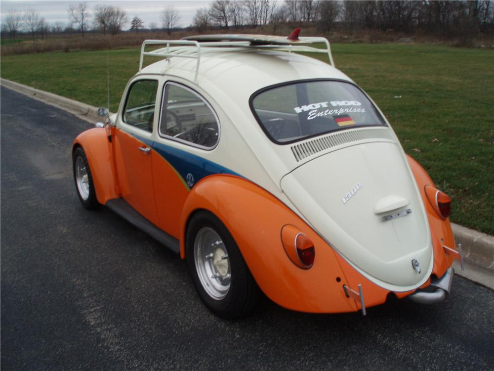 1966 VOLKSWAGEN BEETLE CUSTOM COUPE - Rear 3/4 - 116488
