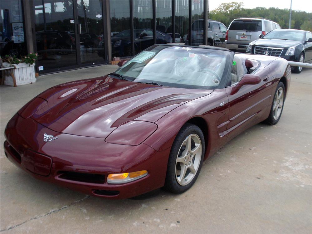 2003 CHEVROLET CORVETTE CONVERTIBLE - Front 3/4 - 116490