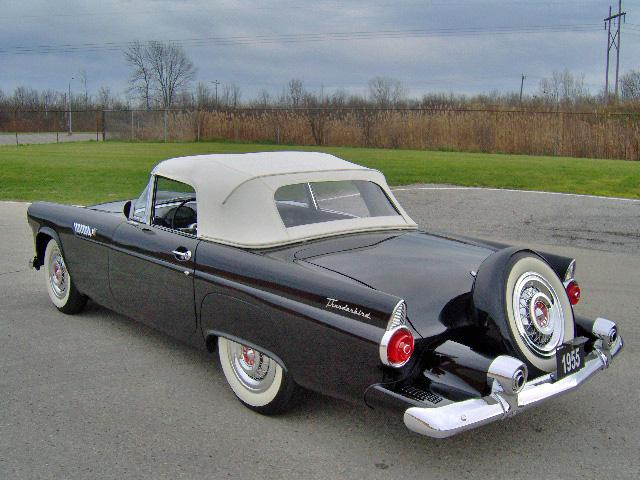 1955 FORD THUNDERBIRD CONVERTIBLE - Rear 3/4 - 116507