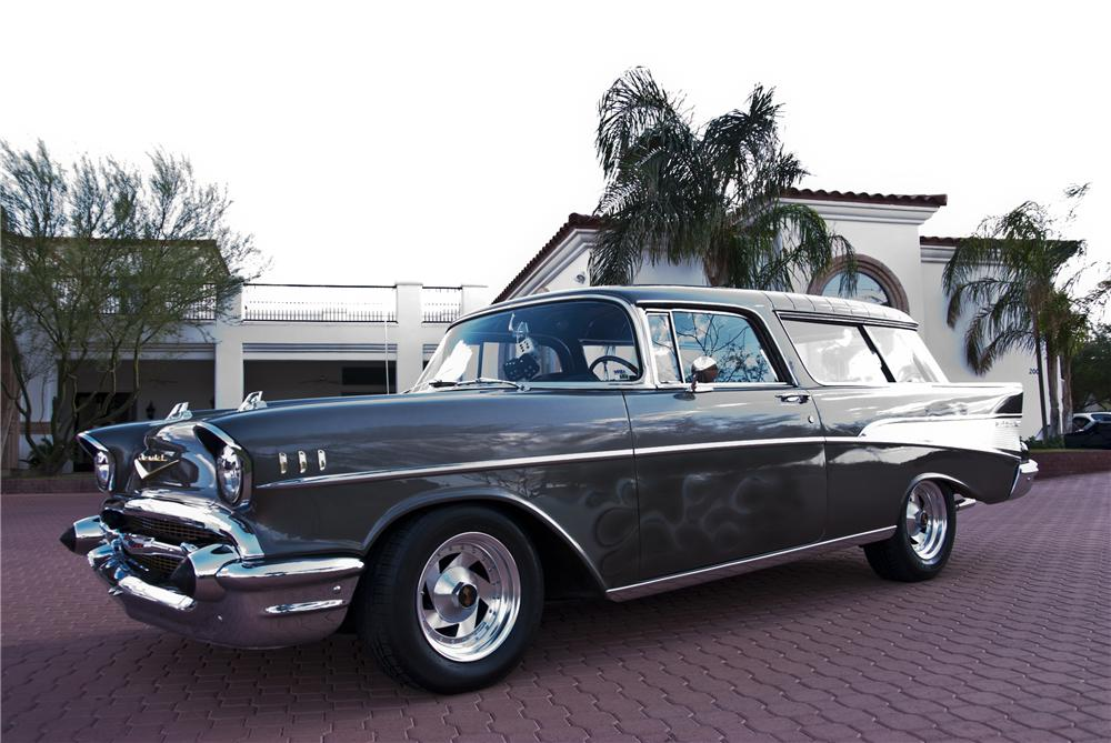 1957 CHEVROLET NOMAD CUSTOM STATION WAGON - Side Profile - 116510