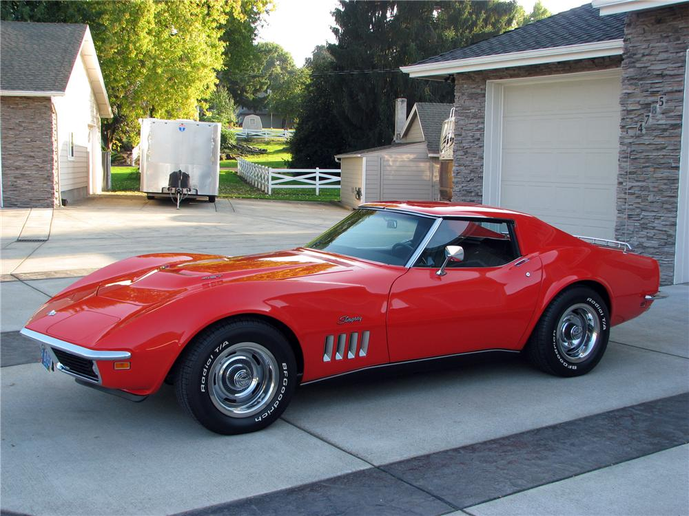 1969 CHEVROLET CORVETTE COUPE - Side Profile - 116515