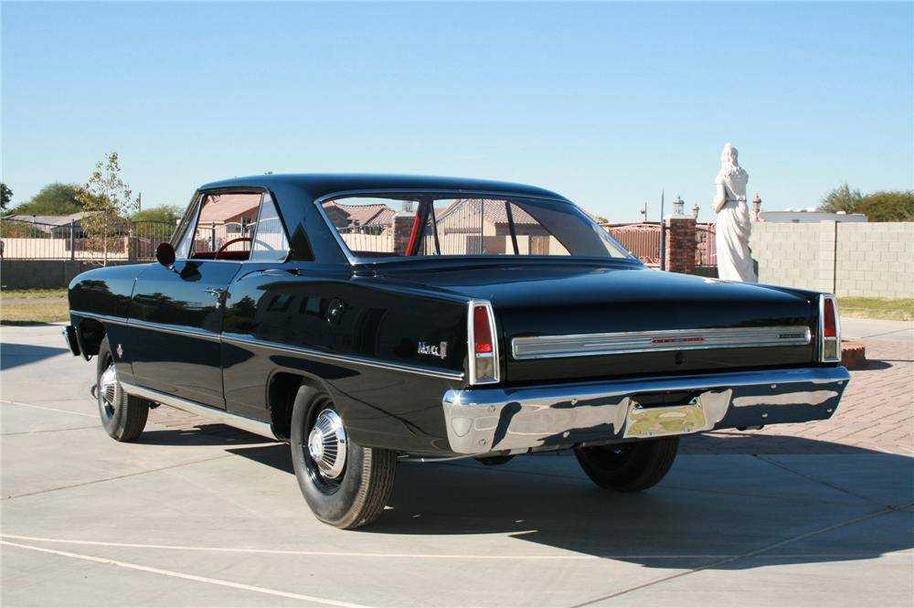 1966 CHEVROLET NOVA 2 DOOR COUPE - Rear 3/4 - 116518