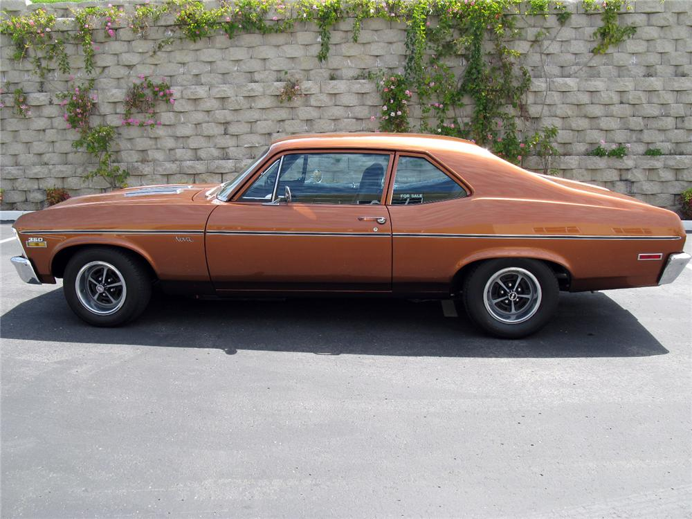 1972 CHEVROLET NOVA SS COUPE - Side Profile - 116520