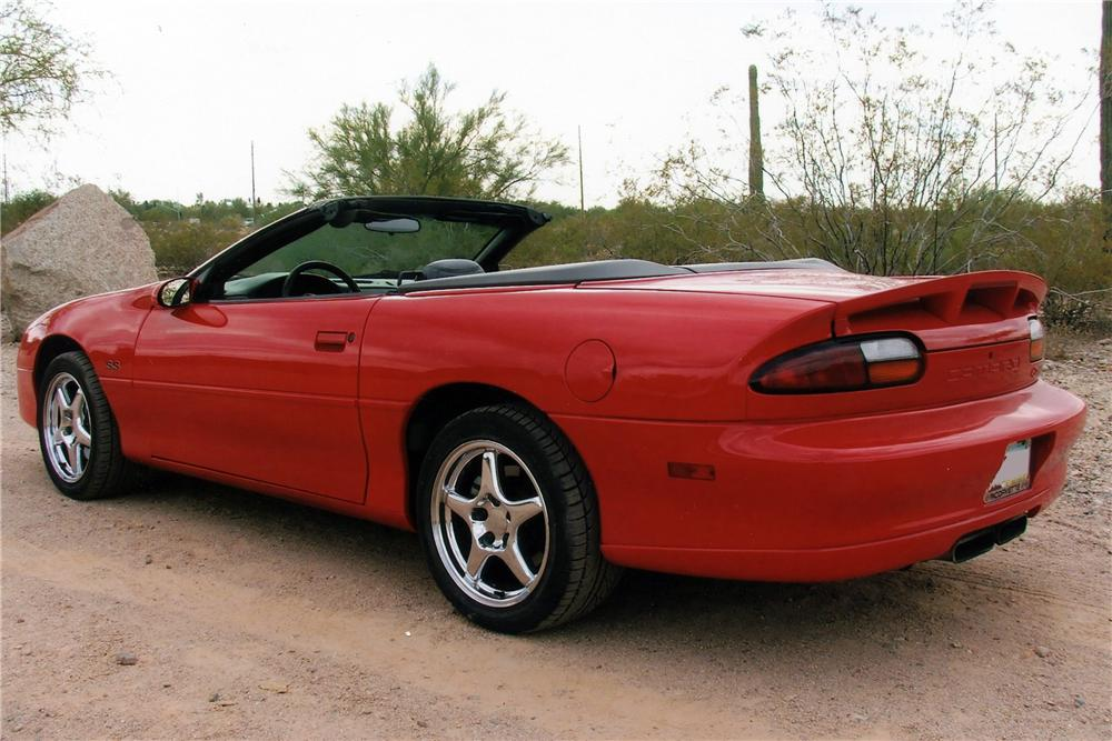 2002 CHEVROLET CAMARO SS 35TH ANNIVERSARY CONVERTIBLE - Rear 3/4 - 116524