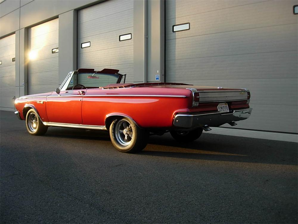 1965 DODGE CORONET CONVERTIBLE - Rear 3/4 - 116525