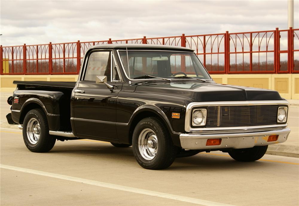 1970 CHEVROLET C-10 CUSTOM STEPSIDE PICKUP - Side Profile - 116800
