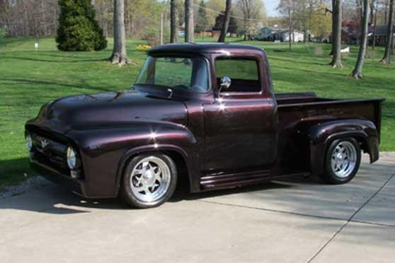 1956 FORD F-100 CUSTOM PICKUP - Front 3/4 - 116804