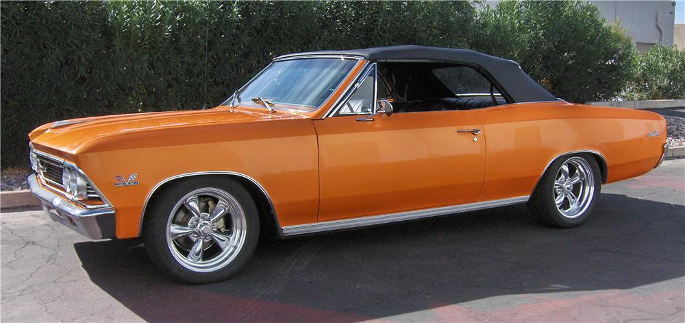 1966 CHEVROLET CHEVELLE MALIBU CUSTOM CONVERTIBLE - Side Profile - 116808