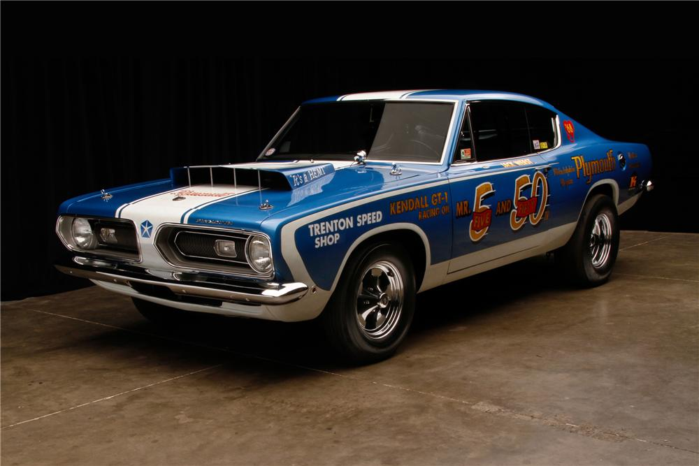 1968 PLYMOUTH BARRACUDA SUPER STOCK - Front 3/4 - 116812
