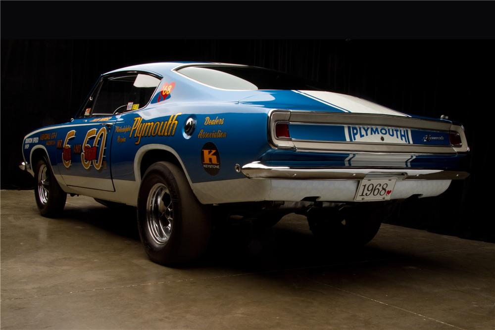 1968 PLYMOUTH BARRACUDA SUPER STOCK - Rear 3/4 - 116812