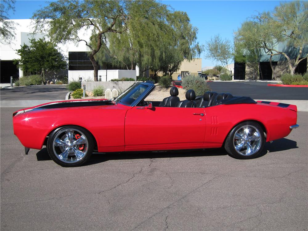 1968 PONTIAC FIREBIRD CUSTOM CONVERTIBLE - Side Profile - 116945