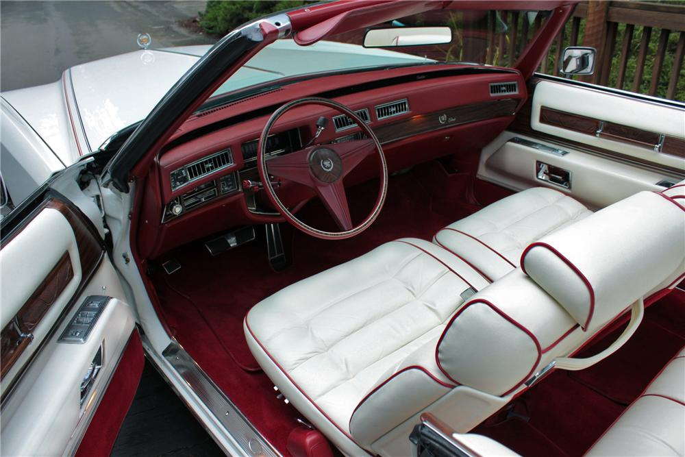 1976 CADILLAC ELDORADO 2 DOOR CONVERTIBLE - Interior - 117011