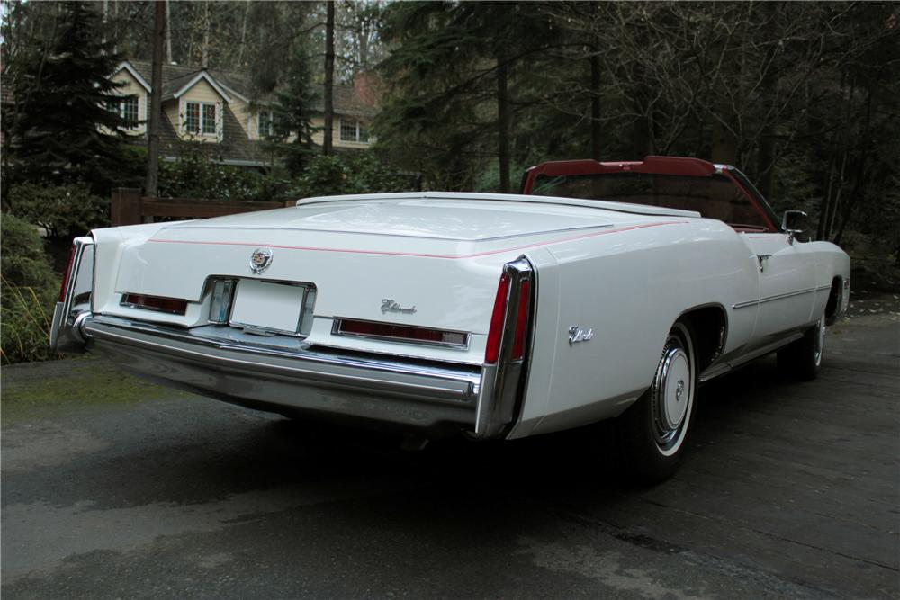 1976 CADILLAC ELDORADO 2 DOOR CONVERTIBLE - Rear 3/4 - 117011