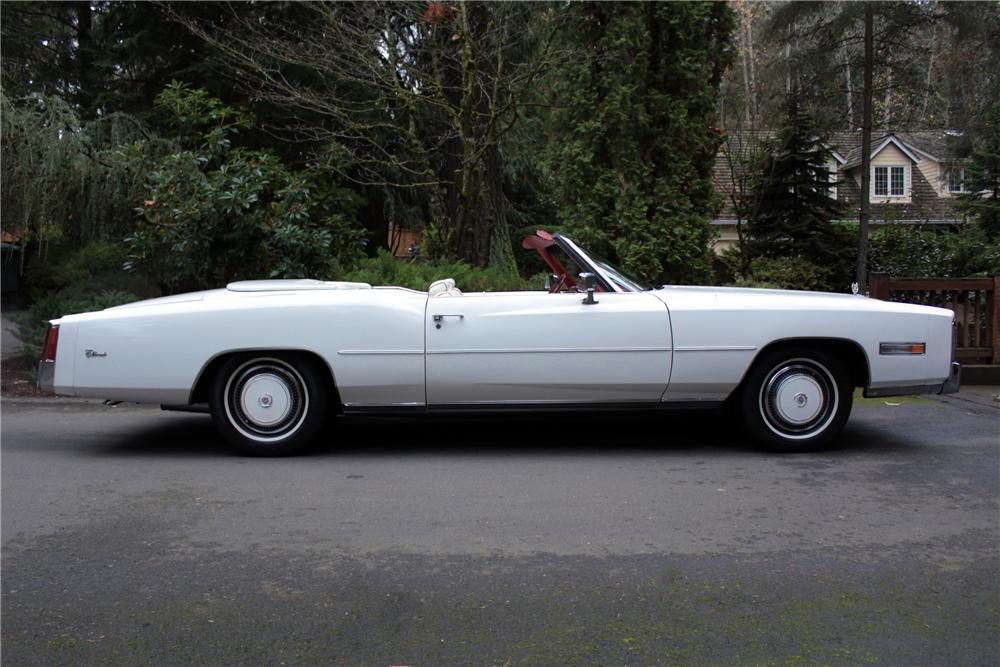 1976 CADILLAC ELDORADO 2 DOOR CONVERTIBLE - Side Profile - 117011