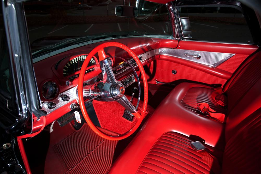1955 FORD THUNDERBIRD CONVERTIBLE - Interior - 117013