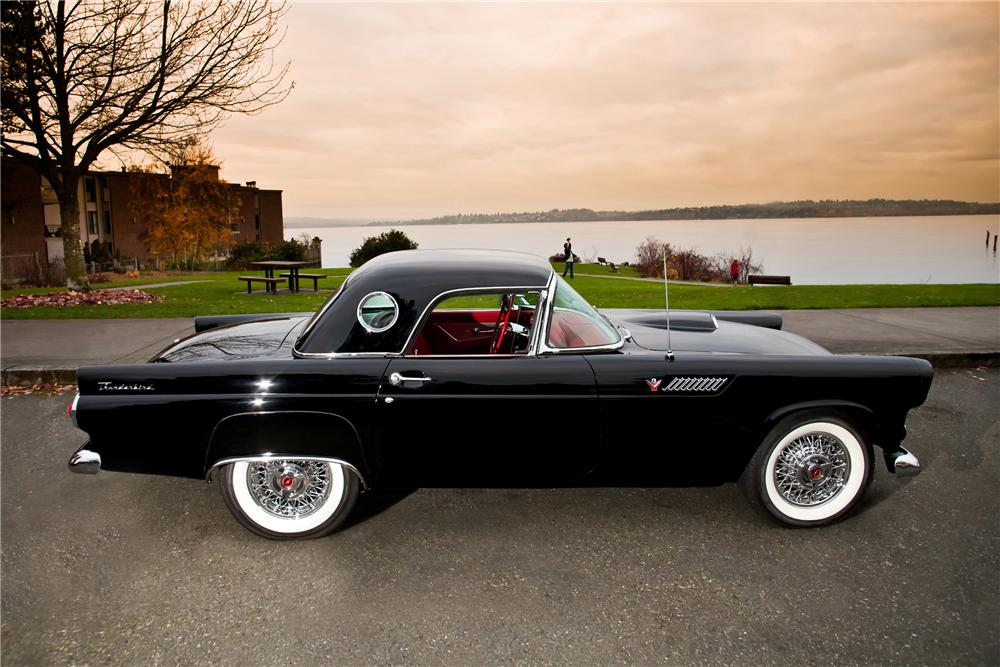 1955 FORD THUNDERBIRD CONVERTIBLE - Side Profile - 117013