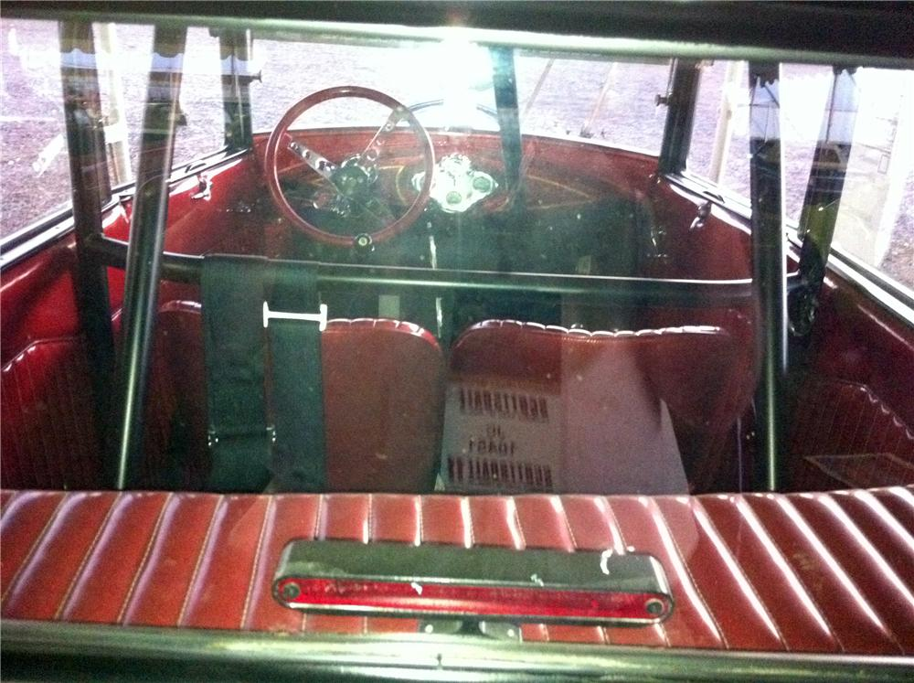 1930 FORD MODEL A CUSTOM 2 DOOR HARDTOP - Interior - 117042