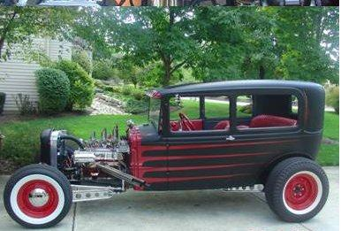 1930 FORD MODEL A CUSTOM 2 DOOR HARDTOP - Side Profile - 117042