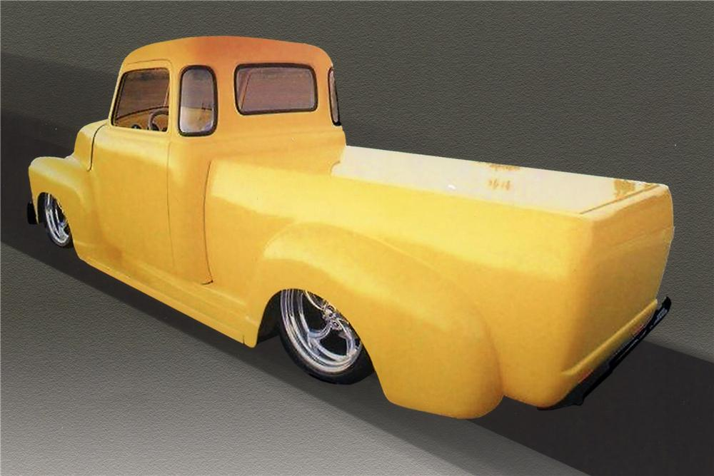 1953 CHEVROLET CUSTOM PICKUP - Rear 3/4 - 117060