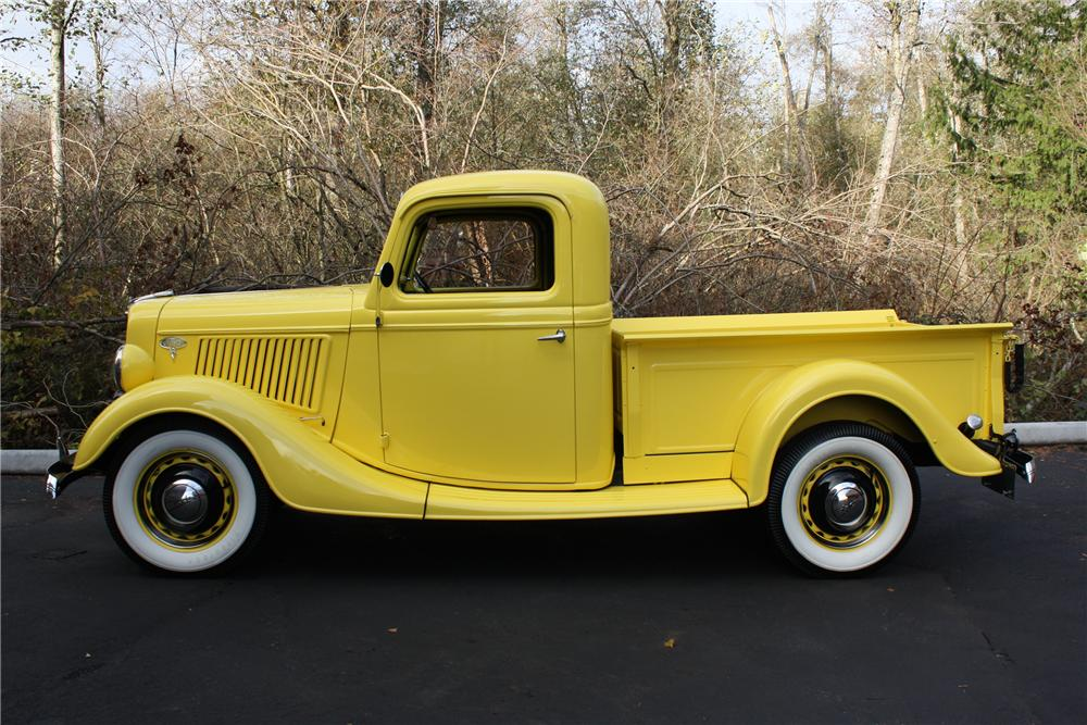 1936 FORD 2 DOOR PICK UP - Side Profile - 117069