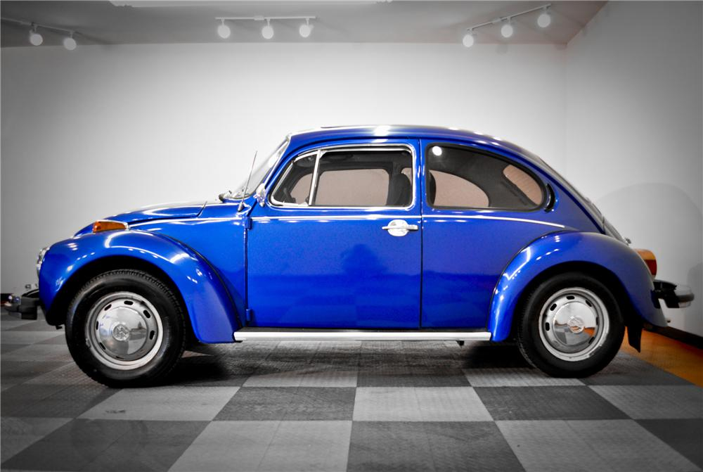 1974 VOLKSWAGEN BEETLE 2 DOOR COUPE - Side Profile - 117074