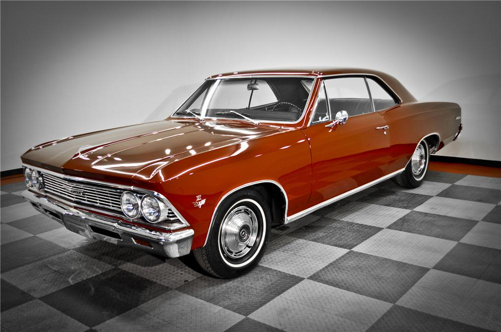 1966 CHEVROLET MALIBU 2 DOOR COUPE - Front 3/4 - 117080