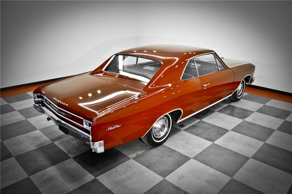 1966 CHEVROLET MALIBU 2 DOOR COUPE - Rear 3/4 - 117080