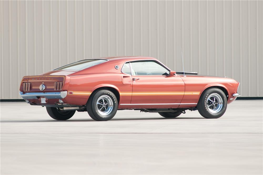 1969 FORD MUSTANG MACH 1 428 SCJ FASTBACK - Rear 3/4 - 117088