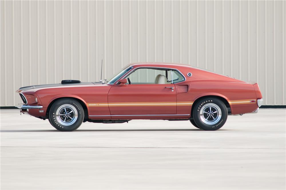 1969 FORD MUSTANG MACH 1 428 SCJ FASTBACK - Side Profile - 117088