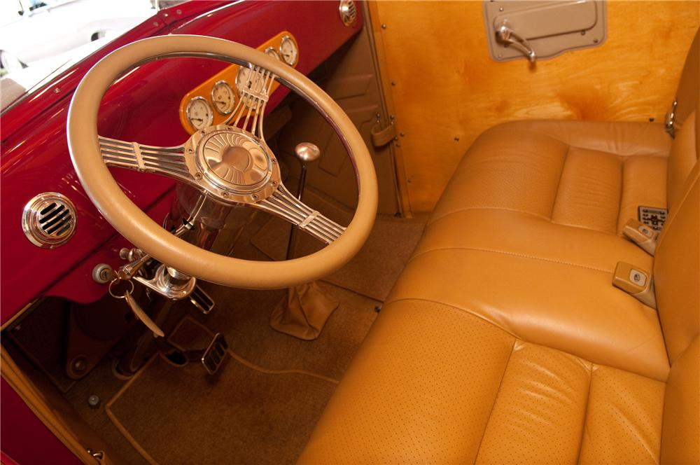 1937 FORD CUSTOM WOODY WAGON - Interior - 117096