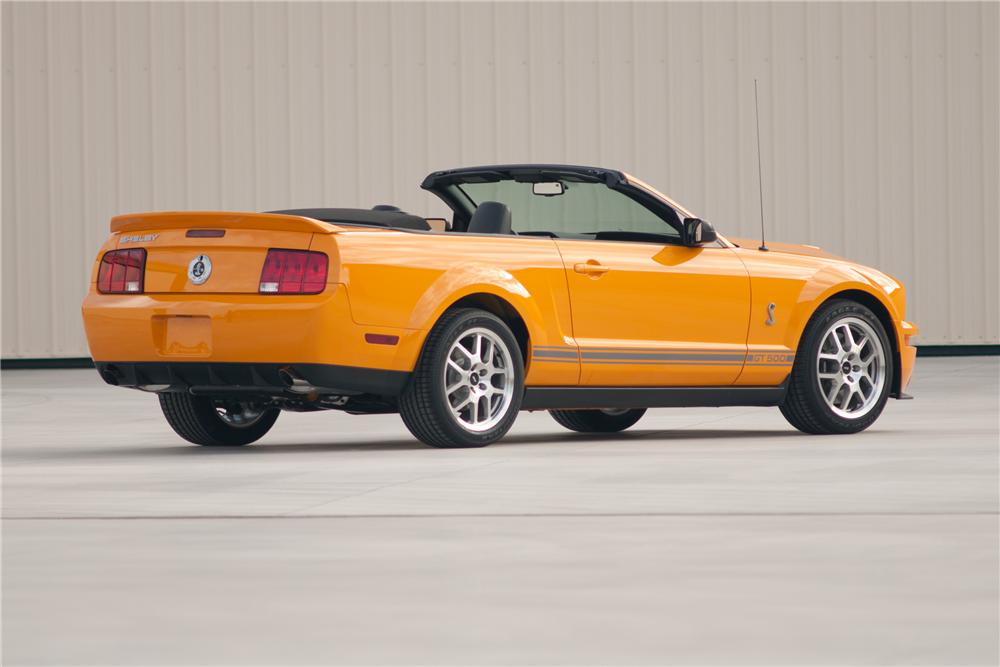 2007 FORD SHELBY GT500 CONVERTIBLE - Rear 3/4 - 117102