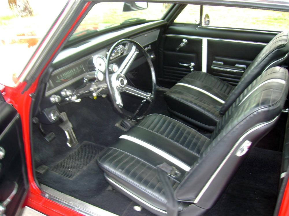 1967 CHEVROLET NOVA CUSTOM 2 DOOR HARDTOP - Interior - 117103