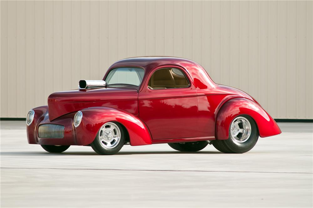 1941 WILLYS AMERICAR CUSTOM COUPE - Front 3/4 - 117109
