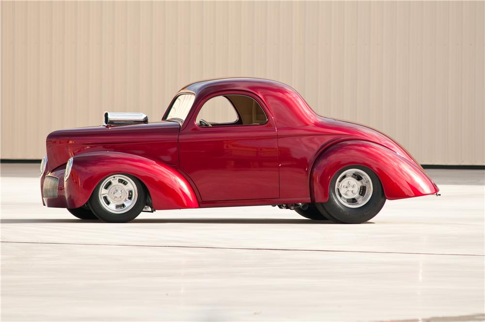 1941 WILLYS AMERICAR CUSTOM COUPE - Side Profile - 117109
