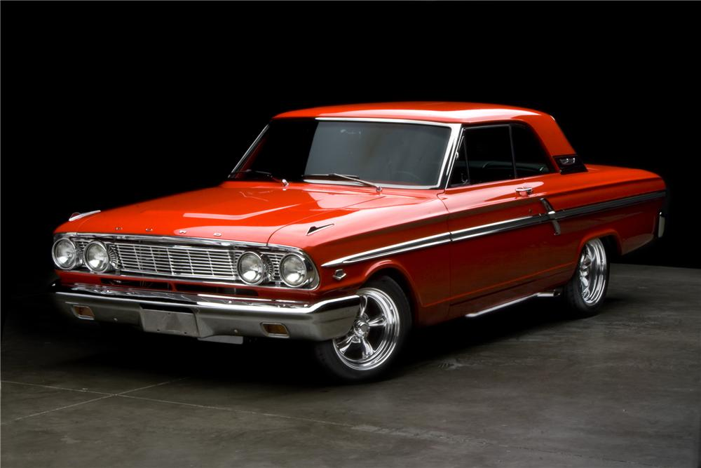 1964 FORD FAIRLANE 500 CUSTOM 2 DOOR HARDTOP - Front 3/4 - 117115