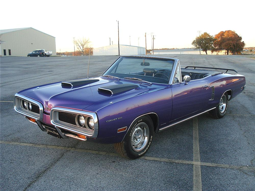 1970 DODGE CORONET 500 CONVERTIBLE - Front 3/4 - 117144